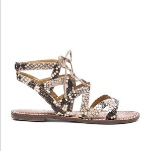 Sam Edelman Gemma Gladiator leather Python sandal